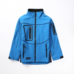 Seamless zipper kids soft shell